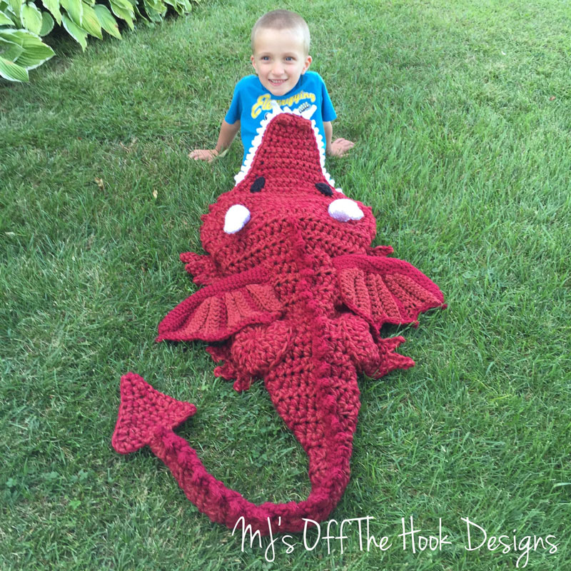 Free Crochet Dragon Afghan Pattern : Dragon Blanket - MJs off the Hook Designs