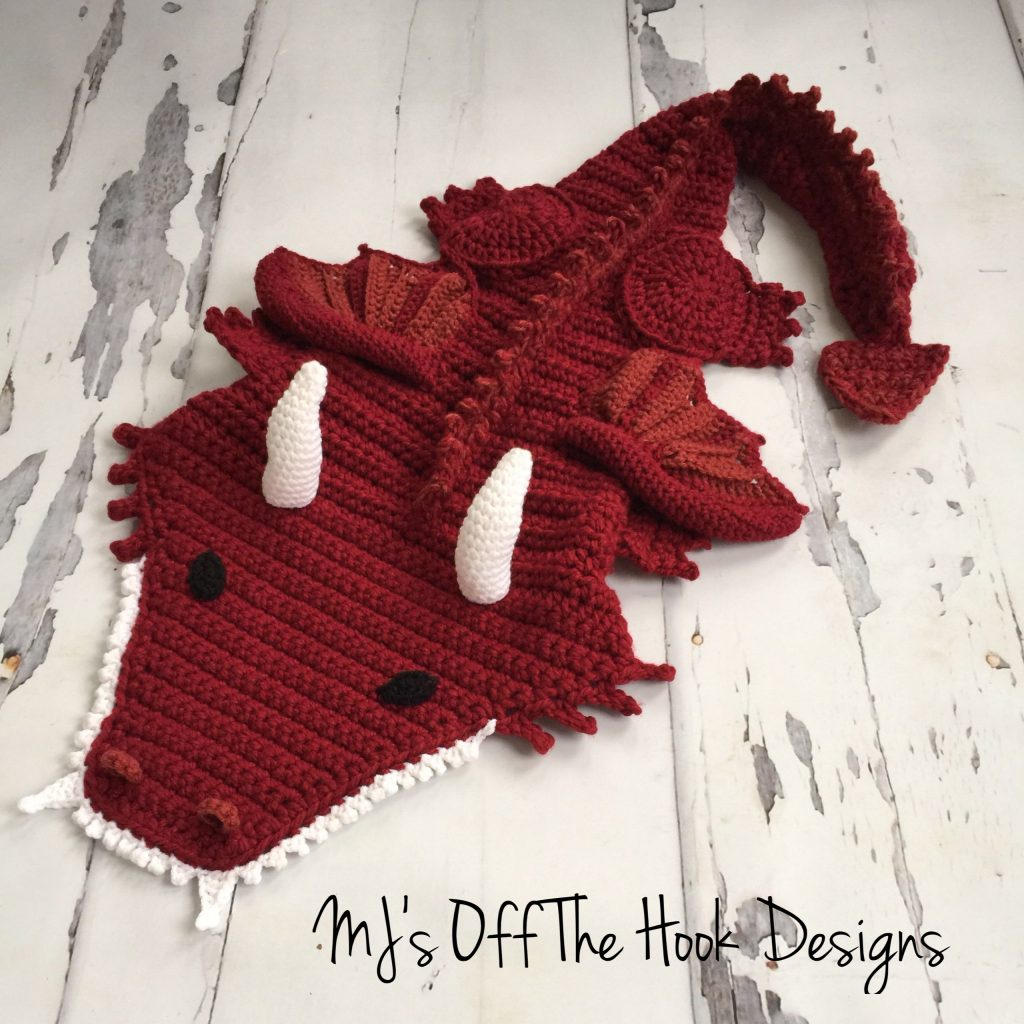 Dragon Blanket - MJ's off the Hook Designs