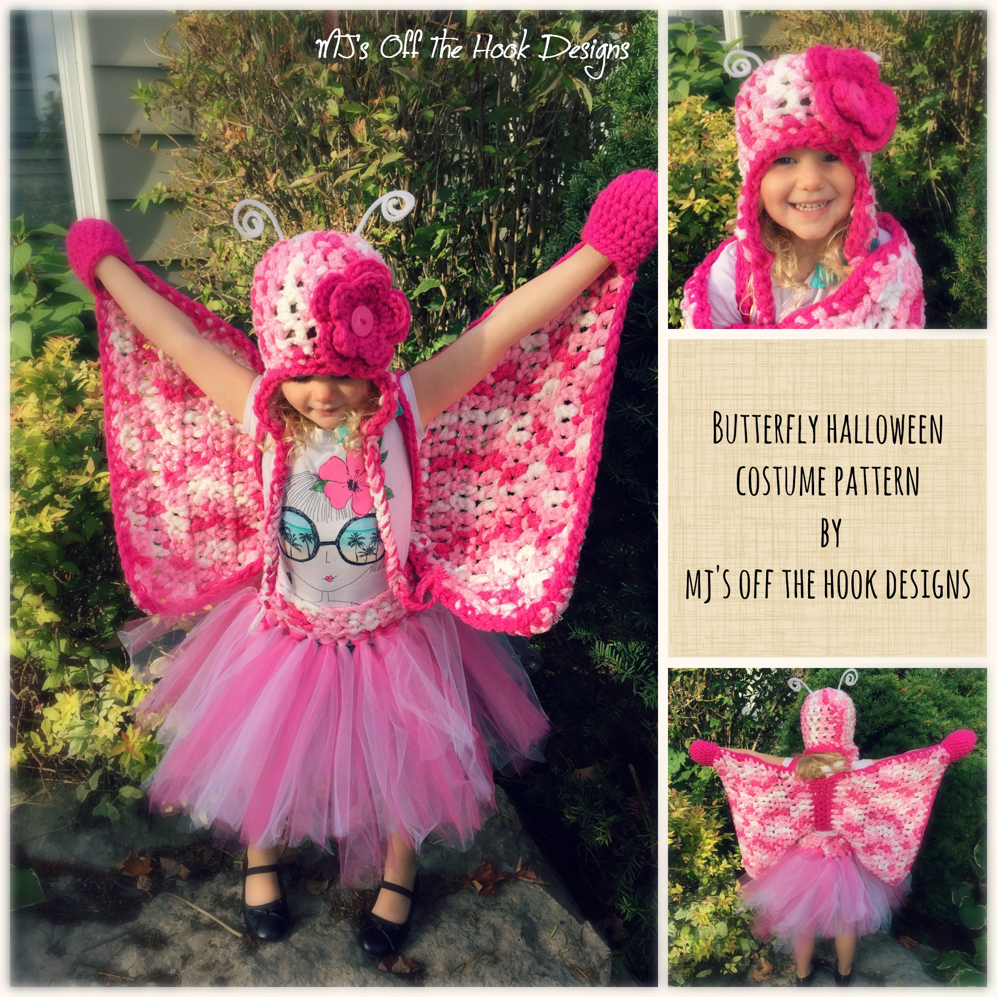 Crochet butterfly set