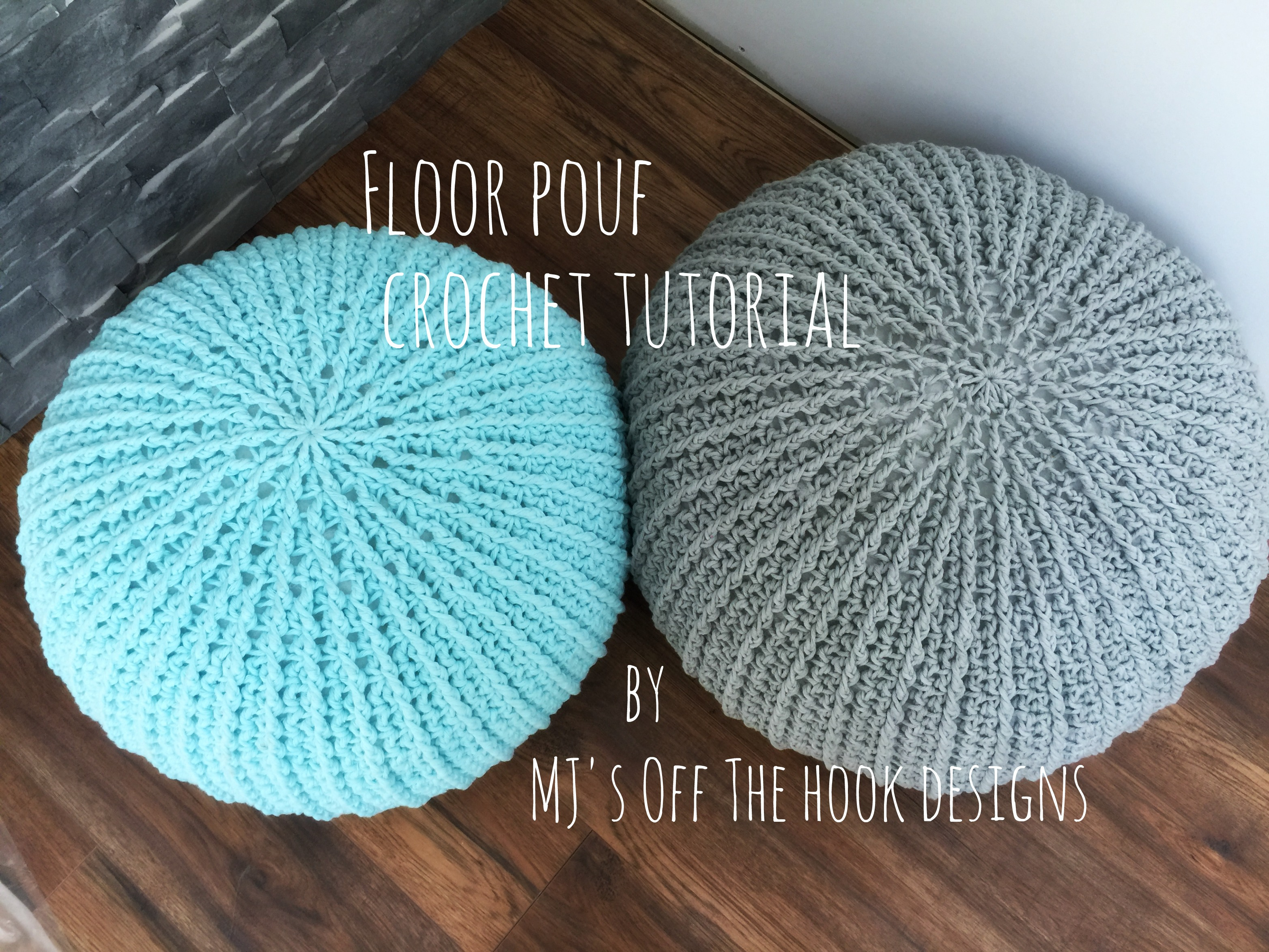 Floor Pouf Pattern - MJ\'s off the Hook Designs