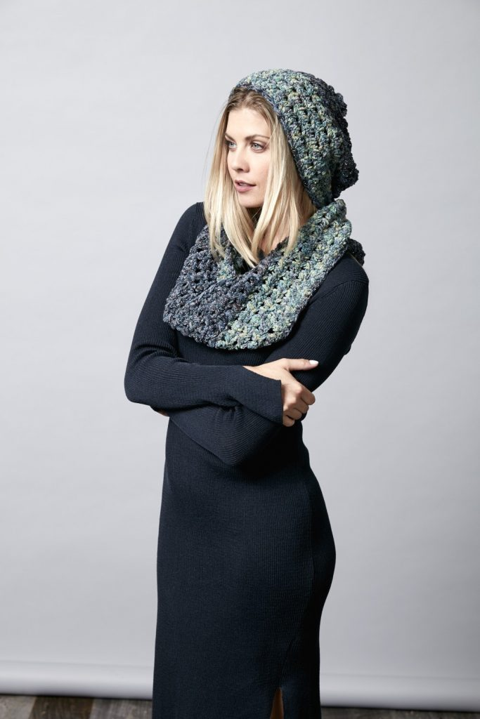 Midnight Frost Infinity Scarf
