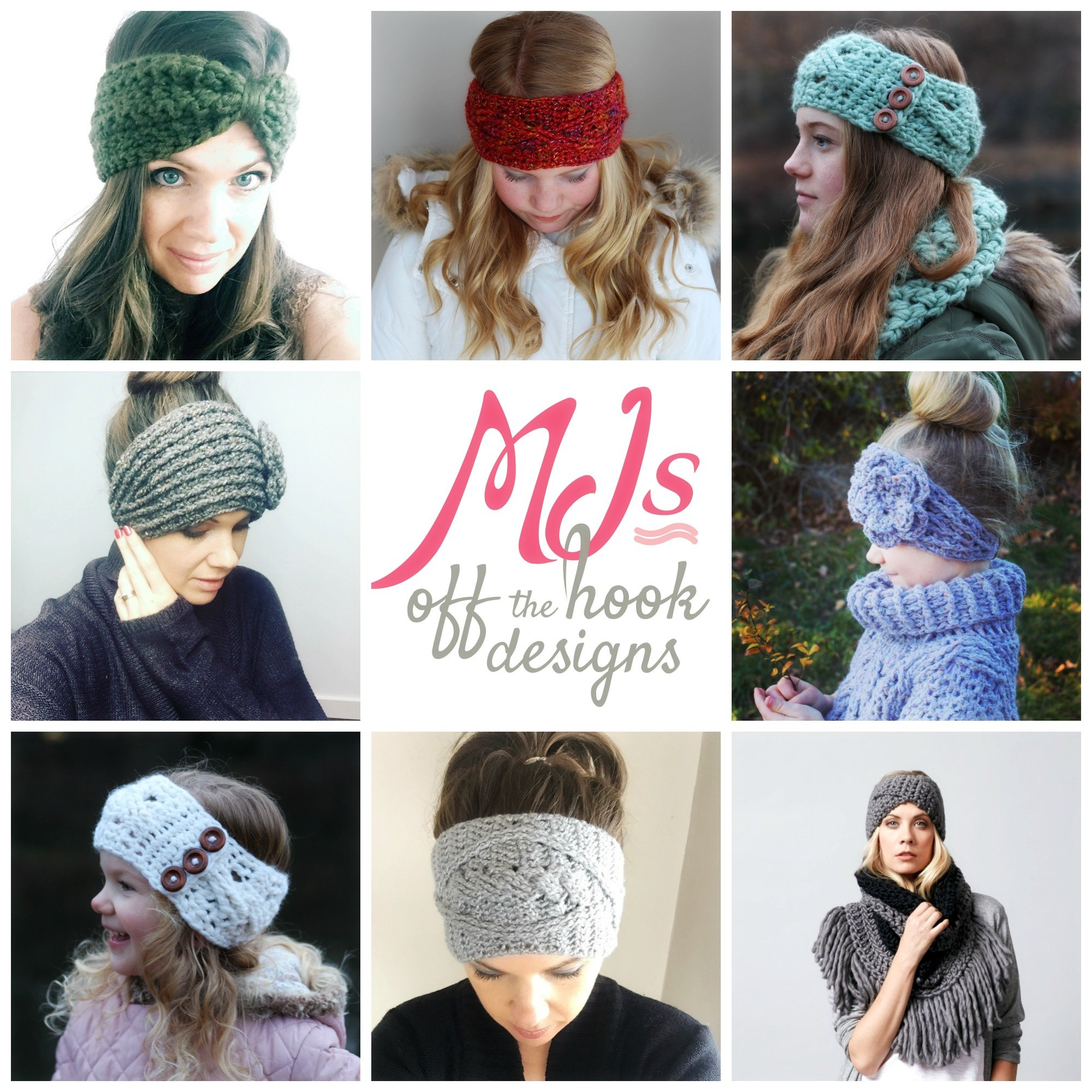Fast and Fun 1 skein Headbands! - MJ\'s off the Hook Designs
