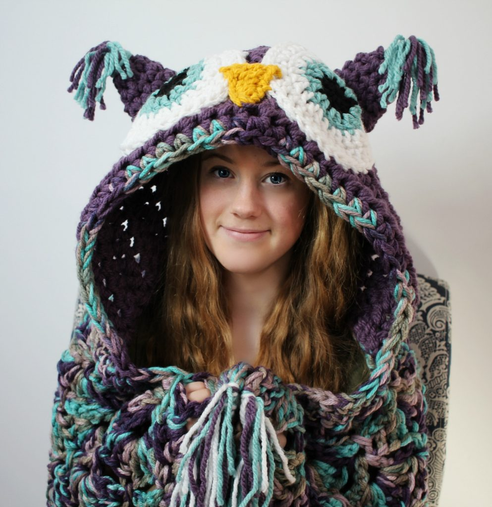 hooded owl purple