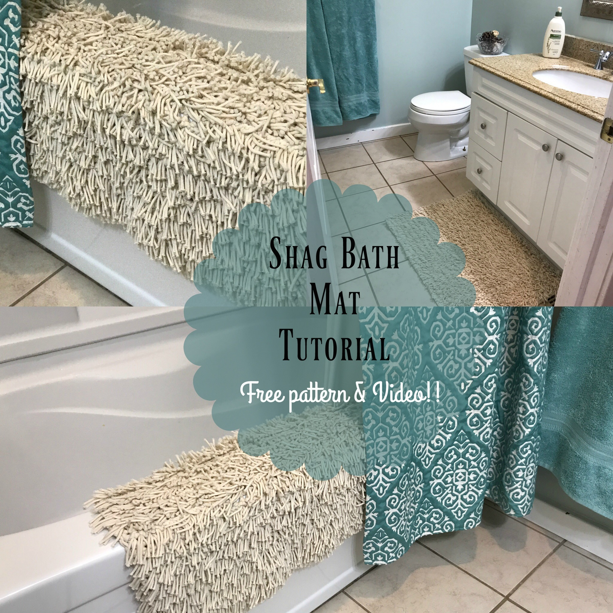 Free Crochet Shag Bath Mat Tutorial Mj S Off The Hook Designs