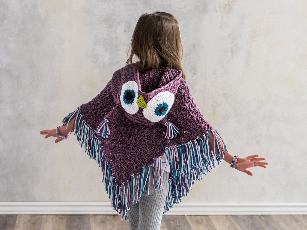 The Hooded Owl Poncho is a Hoot! - MJ\'s off the Hook Designs