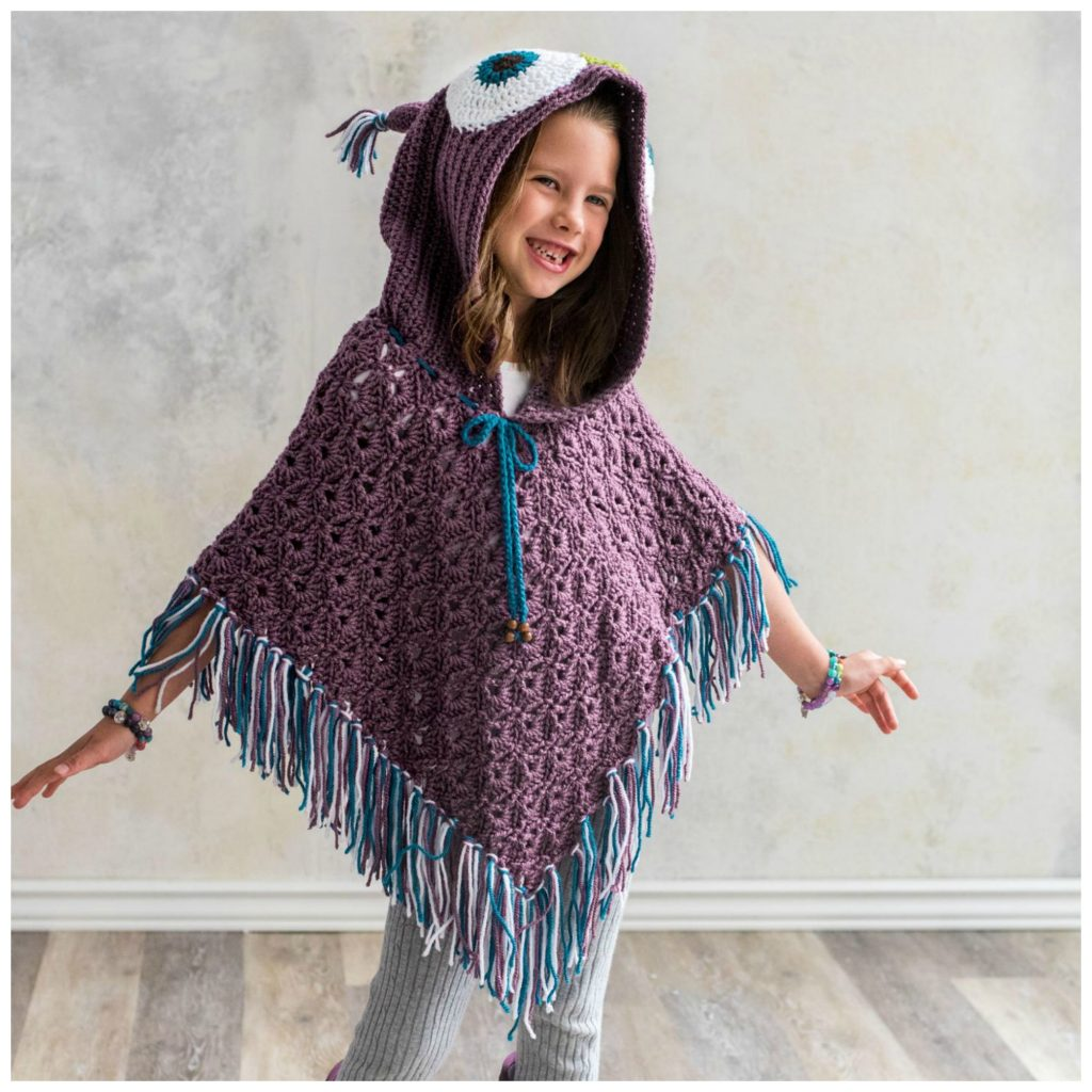 Hooded Owl Poncho