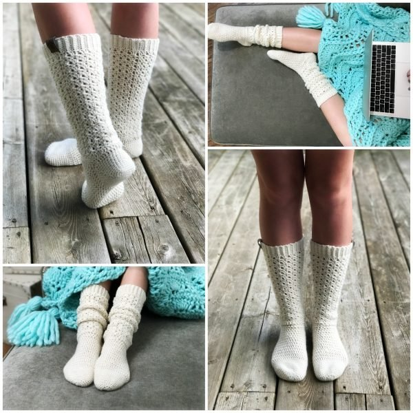 Endless Lace Crochet Socks