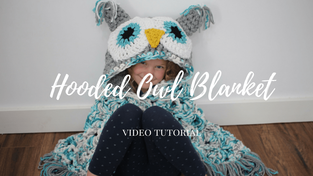 Hooded Owl Blanket Video Tutorial Mjs Off The Hook Designs