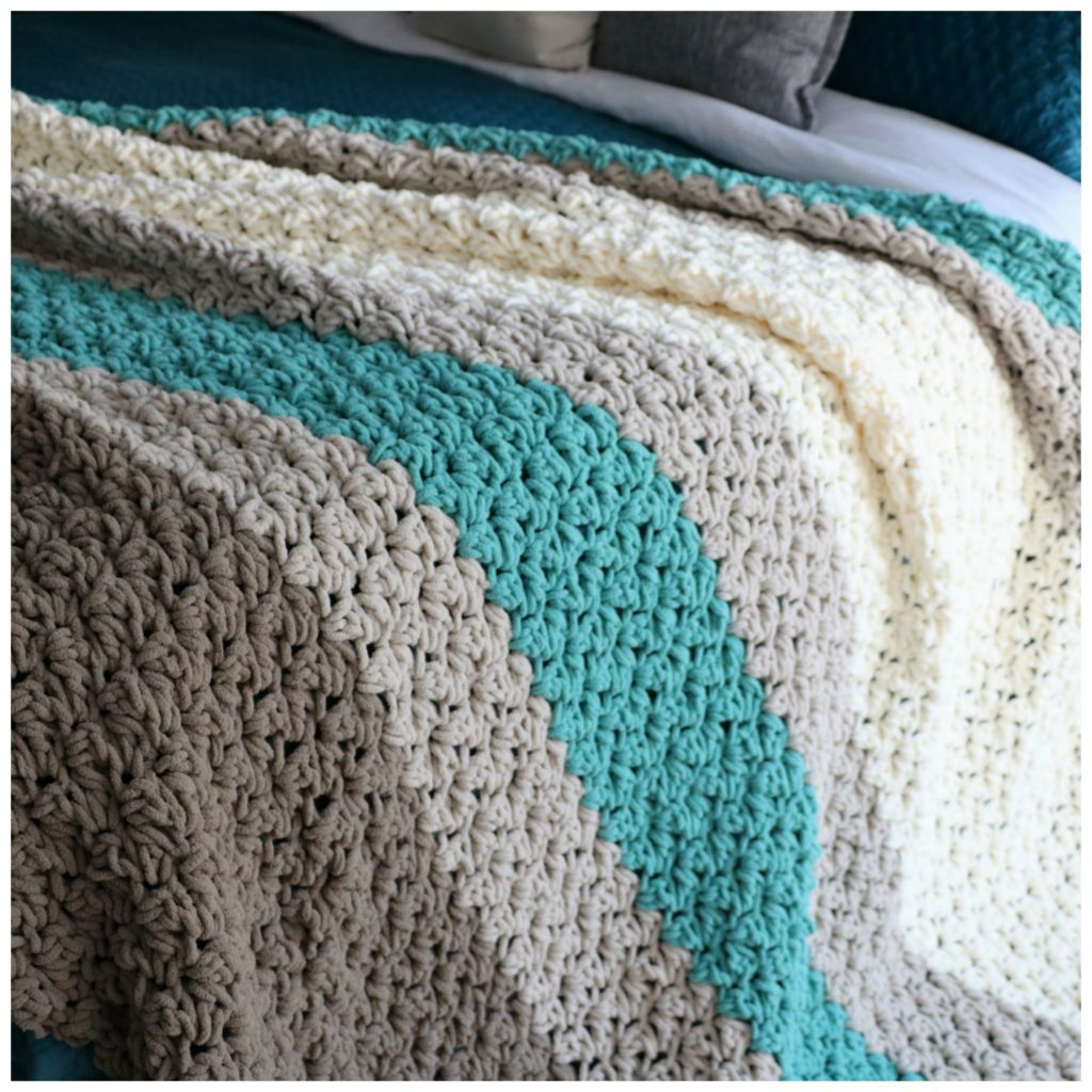 Free Pattern To Crochet a King Size Farmhouse Blanket - MJ\'s off the ...