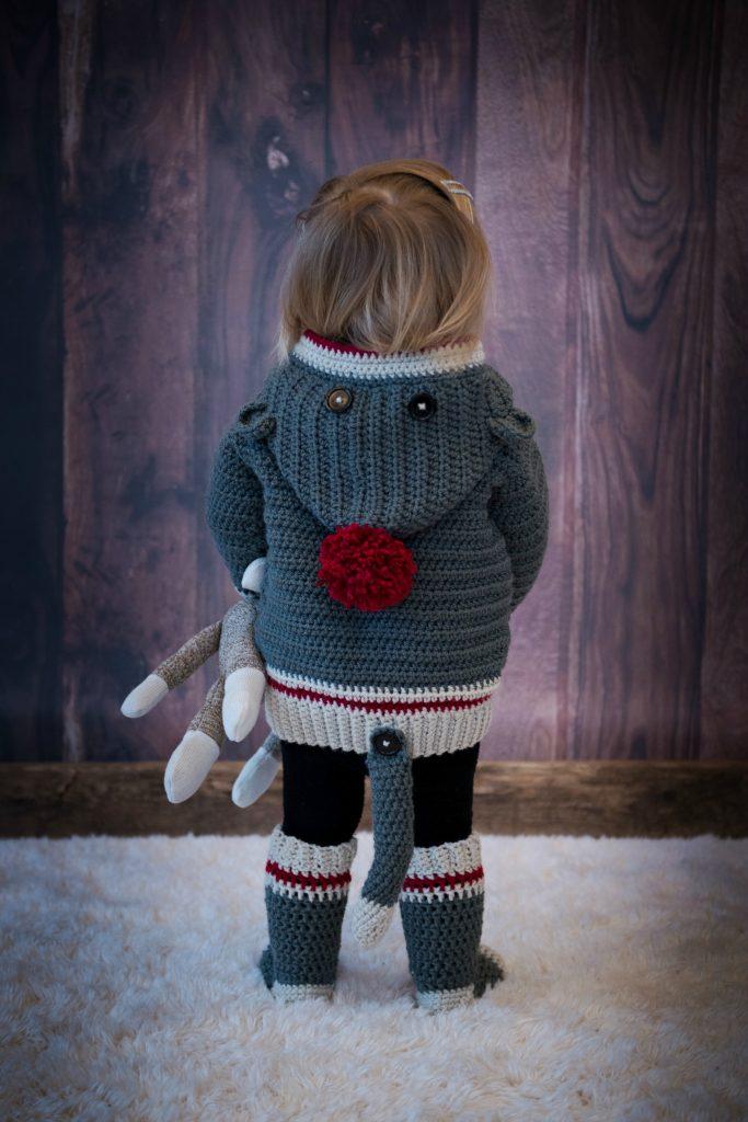 How To Crochet Sock Monkey Hoodie Mj S Off The Hook Designs