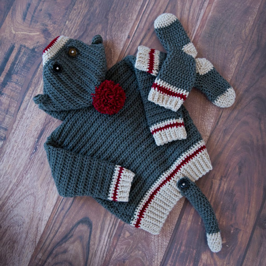 How To Crochet Sock Monkey Hoodie Mjs Off The Hook Designs