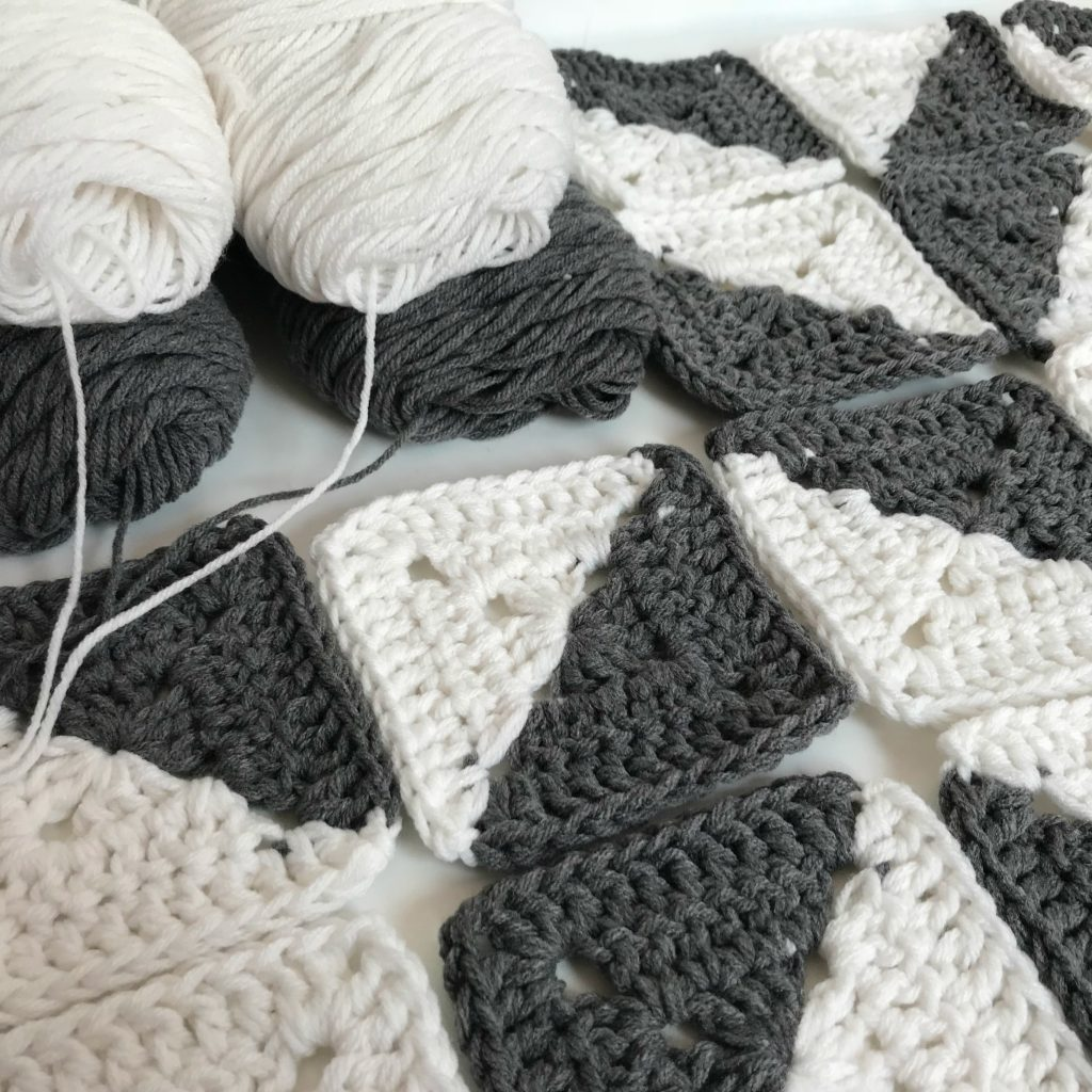 Free Crochet Herringbone Blanket - MJ's off the Hook Designs