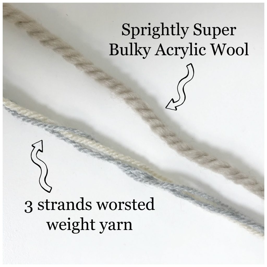 Worsted Bulky comparison