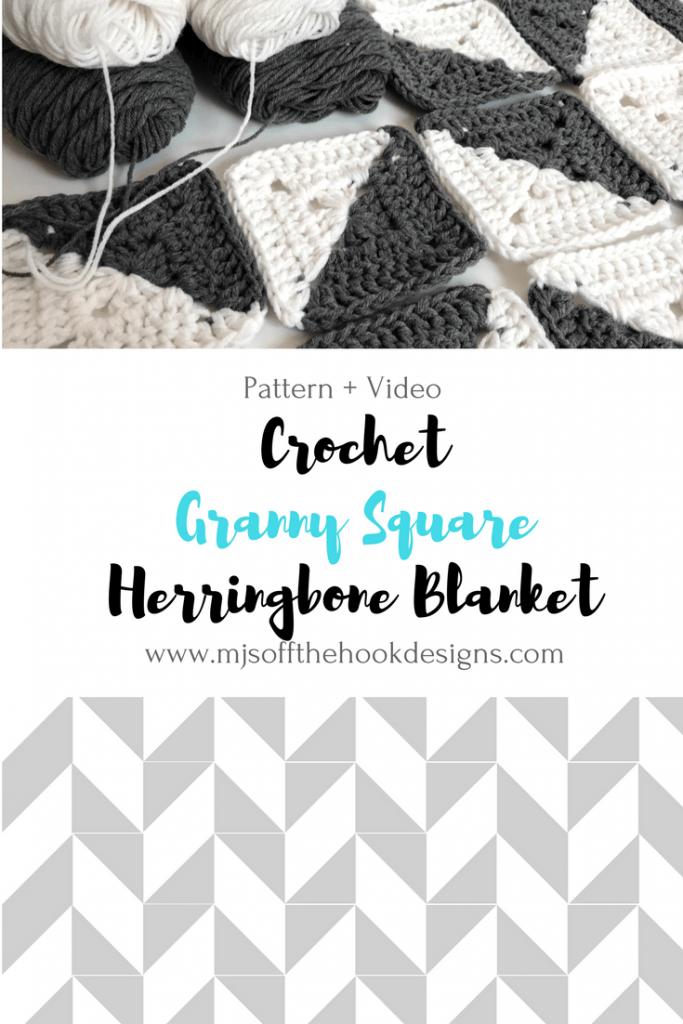 Free Crochet Herringbone Blanket Mj S Off The Hook Designs