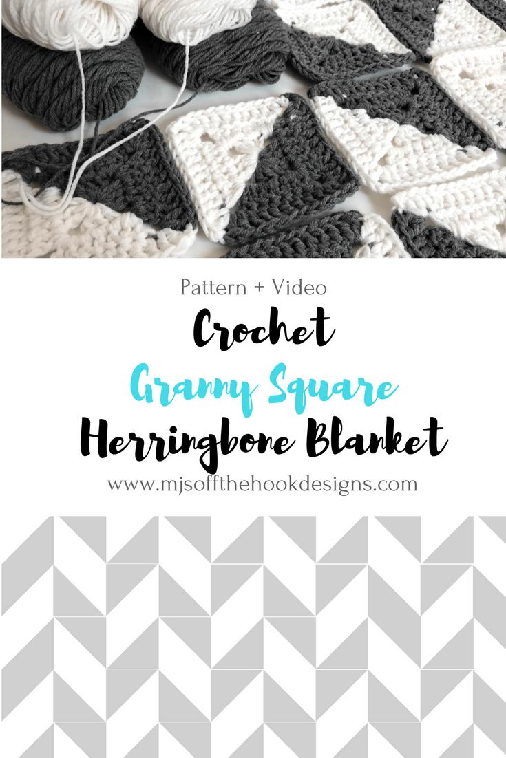Free Crochet Herringbone Blanket Mjs Off The Hook Designs