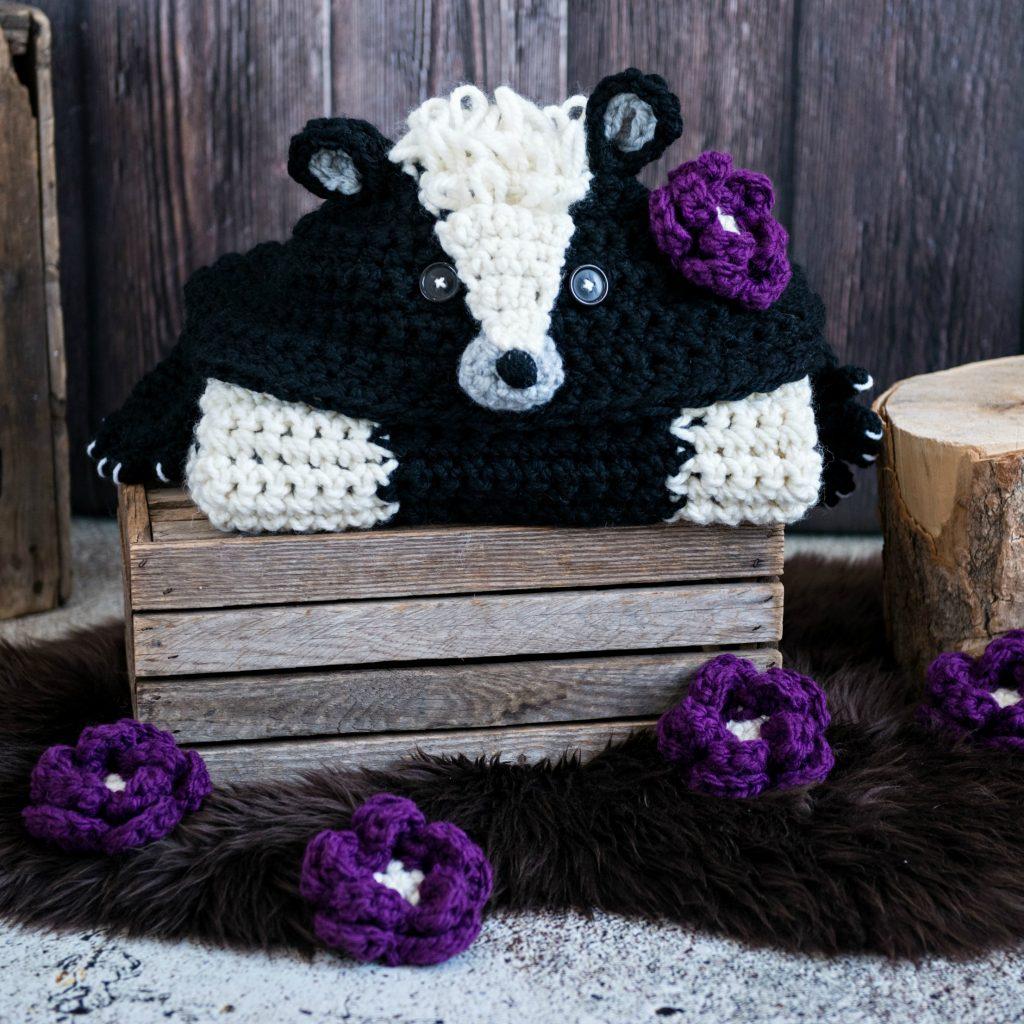 Hooded Woodland Skunk Blanket