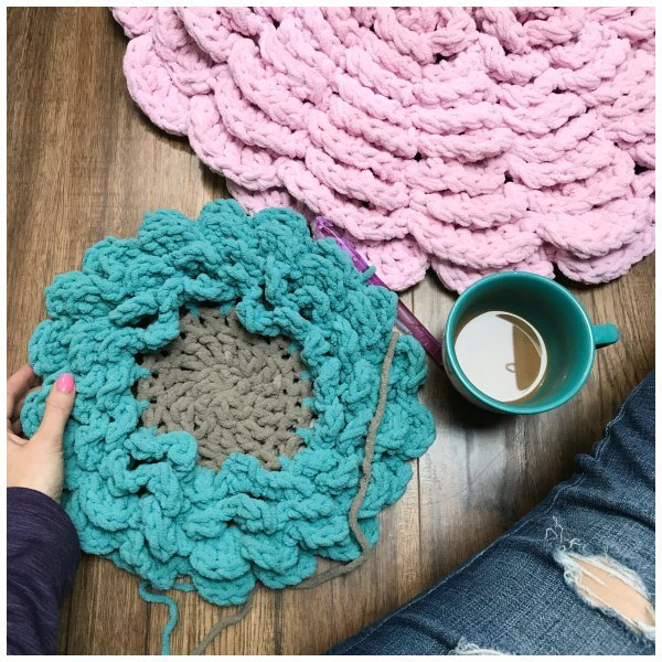 Crochet Flower Rug And Pillow Pattern Plus Video Mj S Off