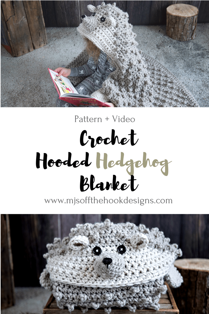 How to Crochet a Cuddly Hedgehog Blanket - MJ\'s off the Hook Designs