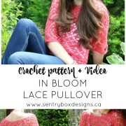 Lace pullover Pin S