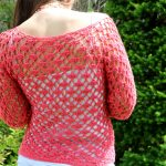 Lace pullover back