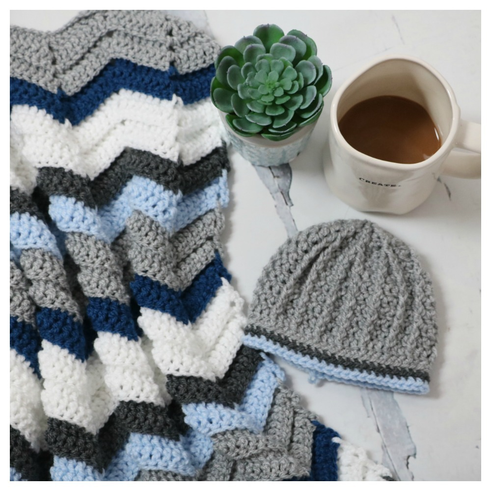 Baby High Tops Set With Free Chevron Stitch Blanket Pattern Mjs