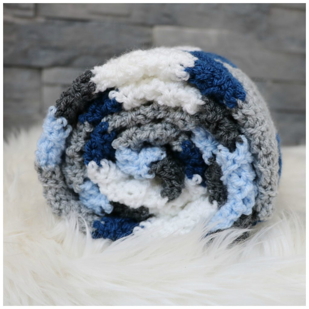 chevron stitch blanket