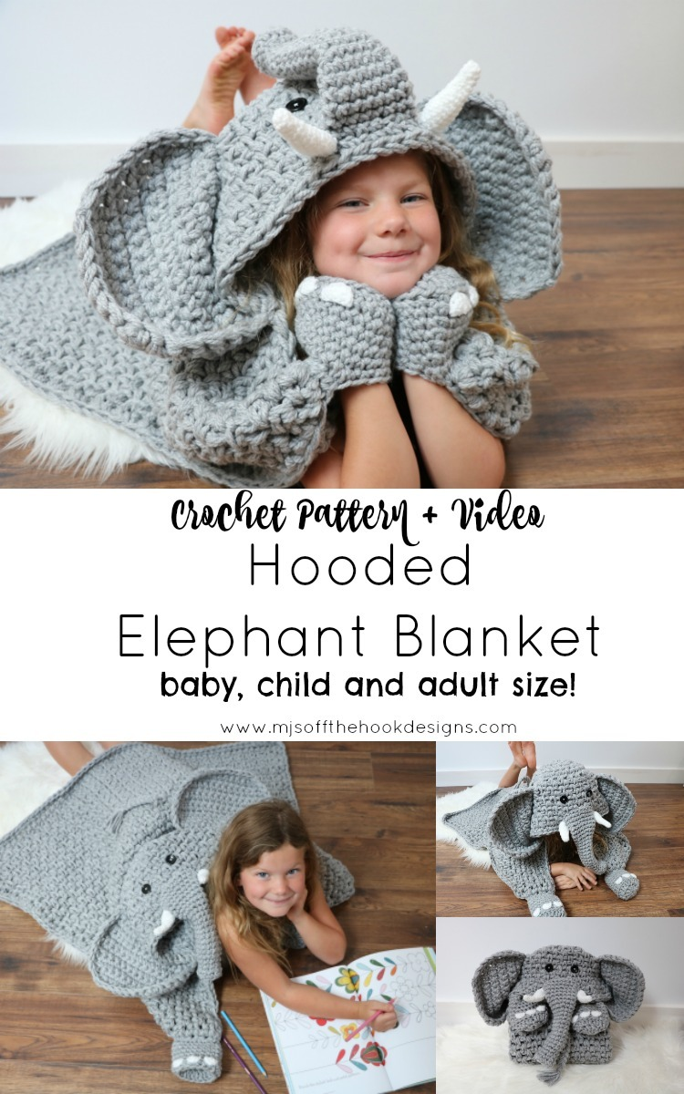 New Hooded Elephant Pattern! - MJ\'s off the Hook Designs