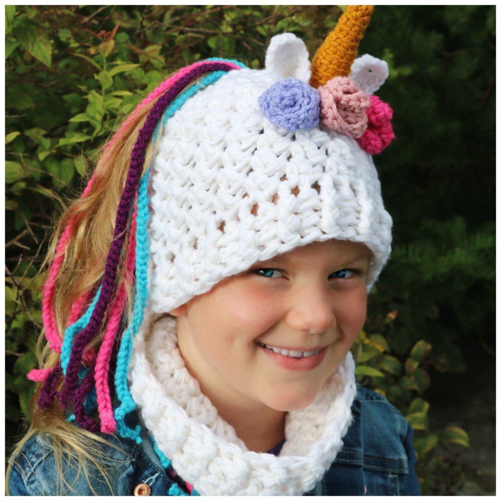 Unicorn Ponytail Hat Set Mjs Off The Hook Designs
