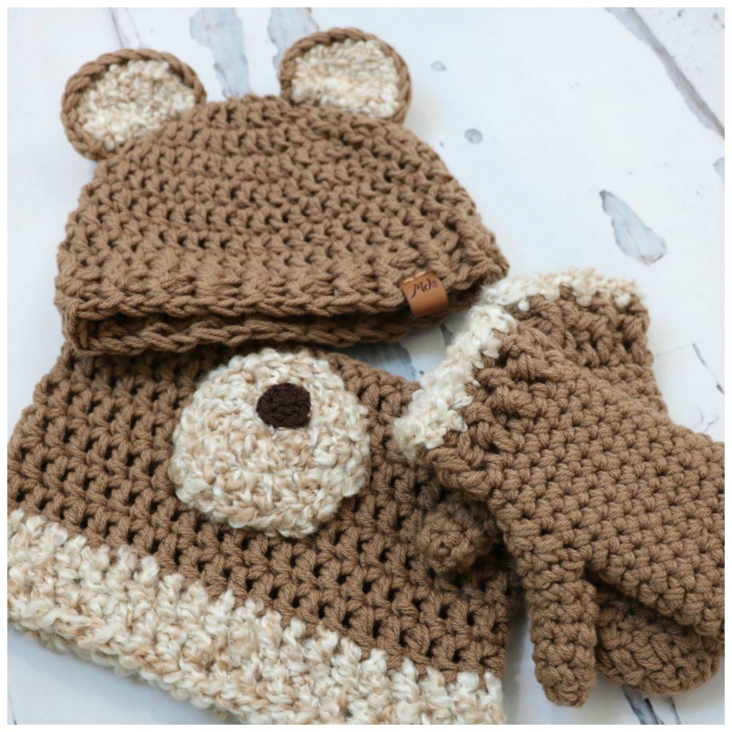 Honey Bear hat set