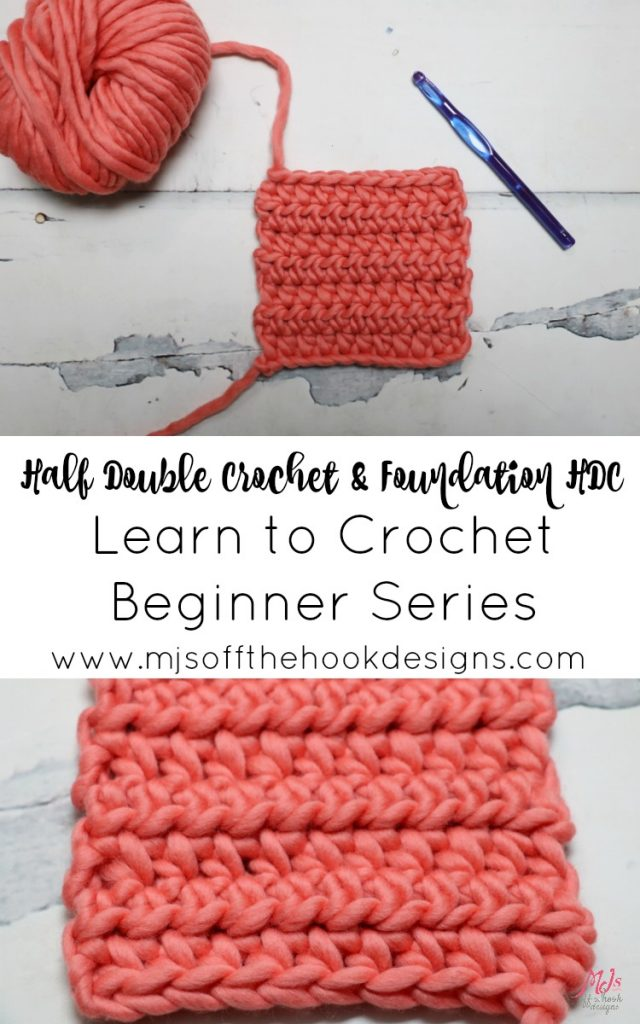 learn how to half double crochet