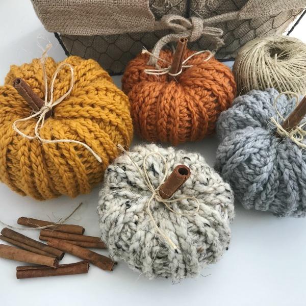 rustic farmhouse pumpkins