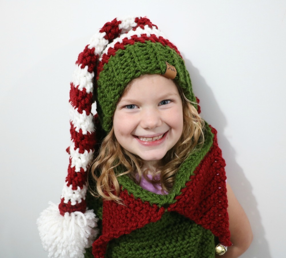 2912fd472264c The Christmas Elf hat is an extra Bonus! It s cozy and thick working up  super quick. Perfect for Christmas parades