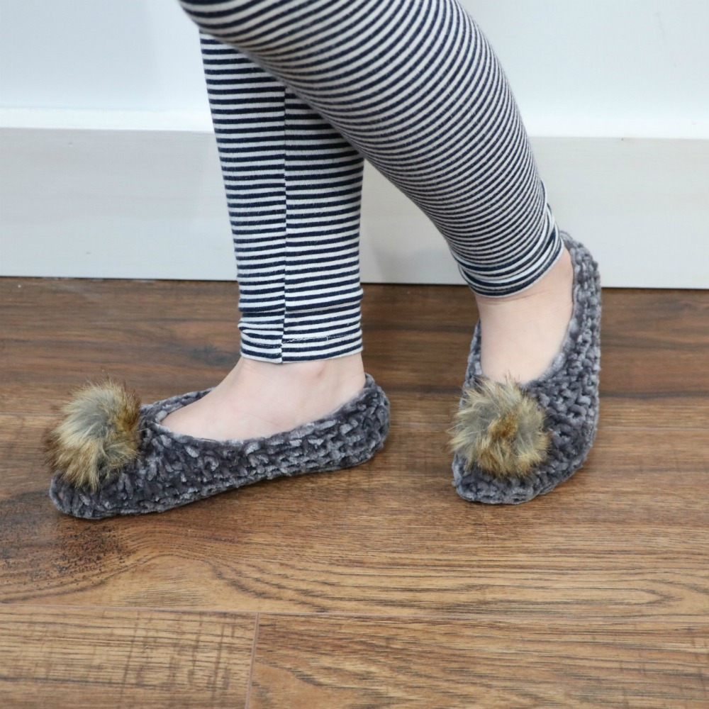 Quick & Easy Velvet Ballet Slippers