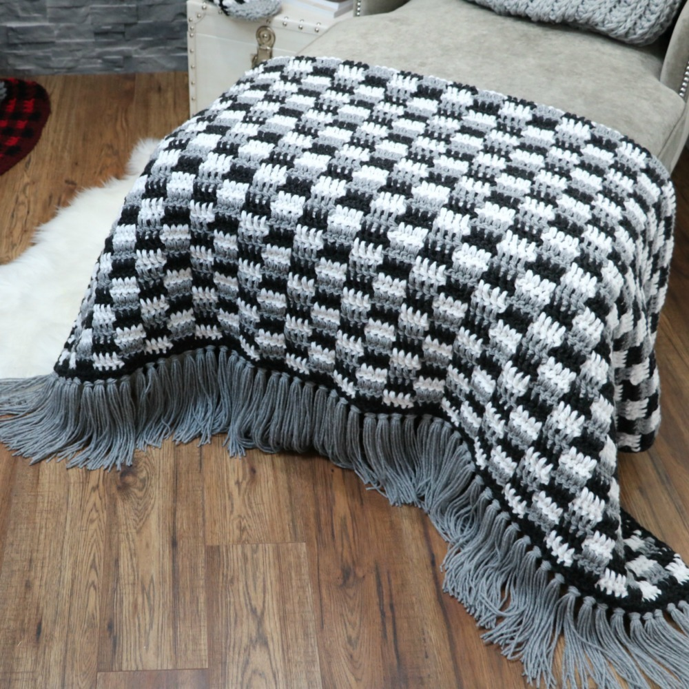 Crochet Rustic Farmhouse Throw Blanket