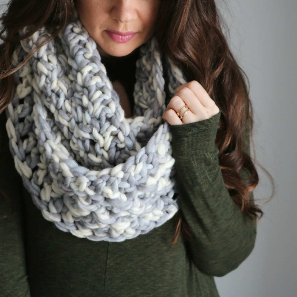 aaebefd0b Looking for a quick and cozy infinity scarf to keep you warm? Check out our  Bulky & Quick Cross Stitch Infinity! This was one of my first patterns and  I ...