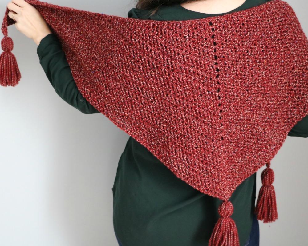 Quick Herringbone Stitch Crochet Shawl - MJ's off the Hook