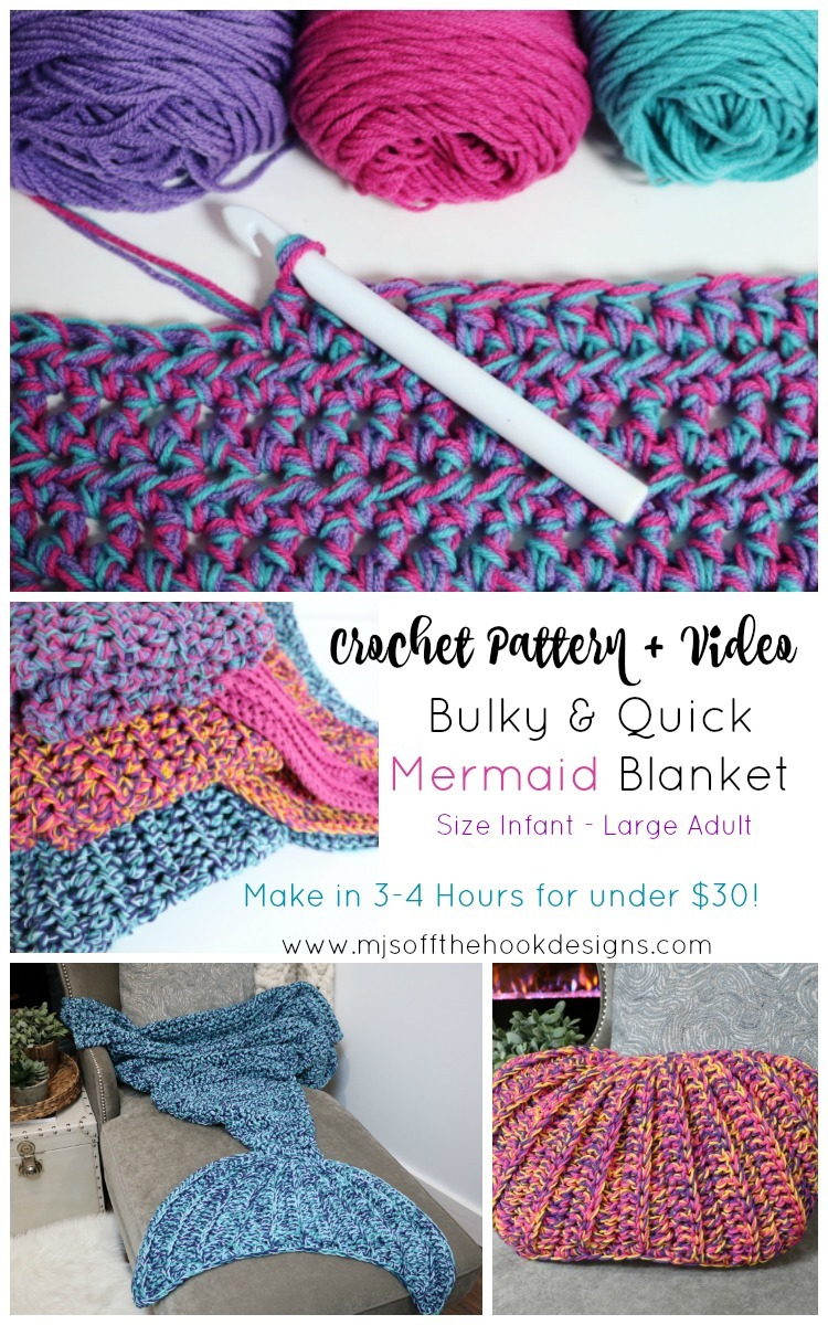 Bulky Quick Mermaid Blanket Mjs Off The Hook Designs