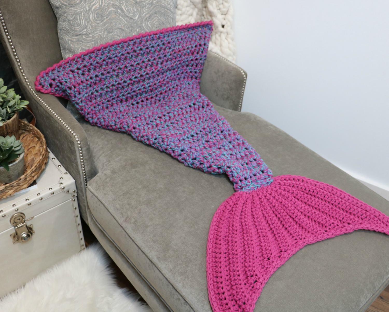 Bulky Quick Mermaid Blanket Mj S Off The Hook Designs