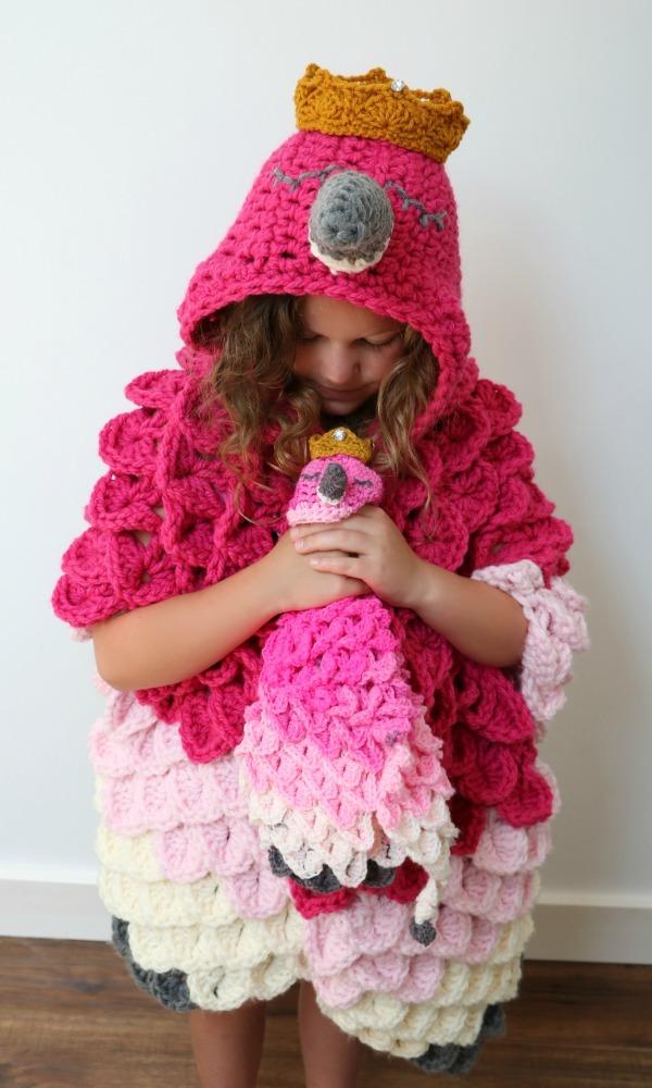 Crochet Pattern Flamingo Baby Blanket