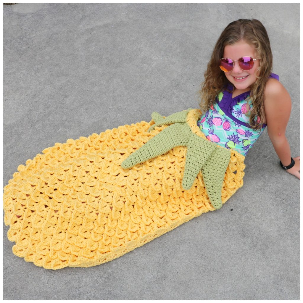 Crochet Pineapple Blanket Cocoon