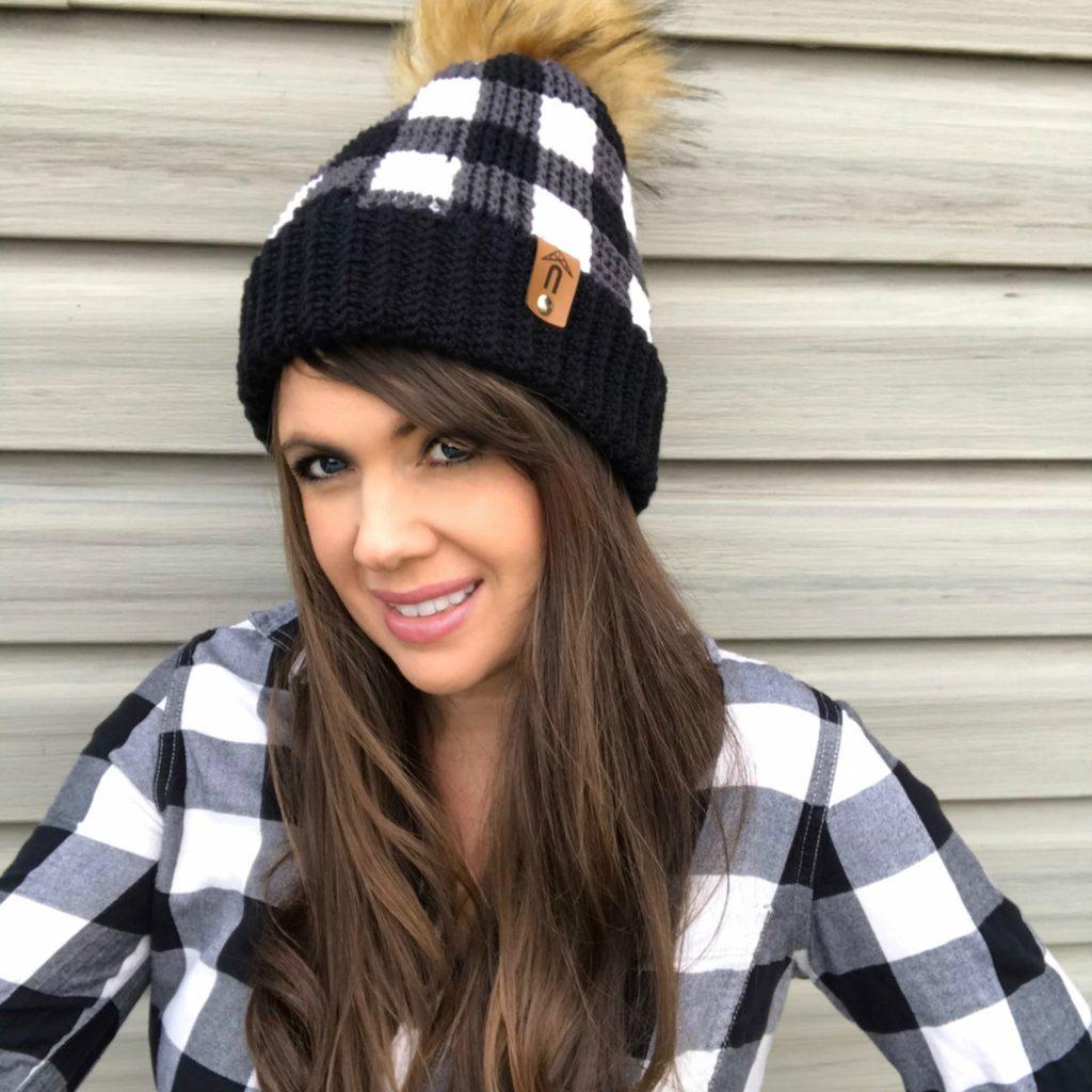 crochet plaid hat