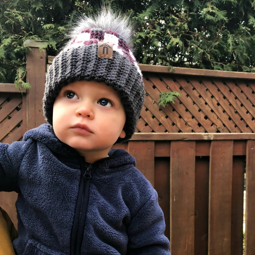 toddler plaid hat