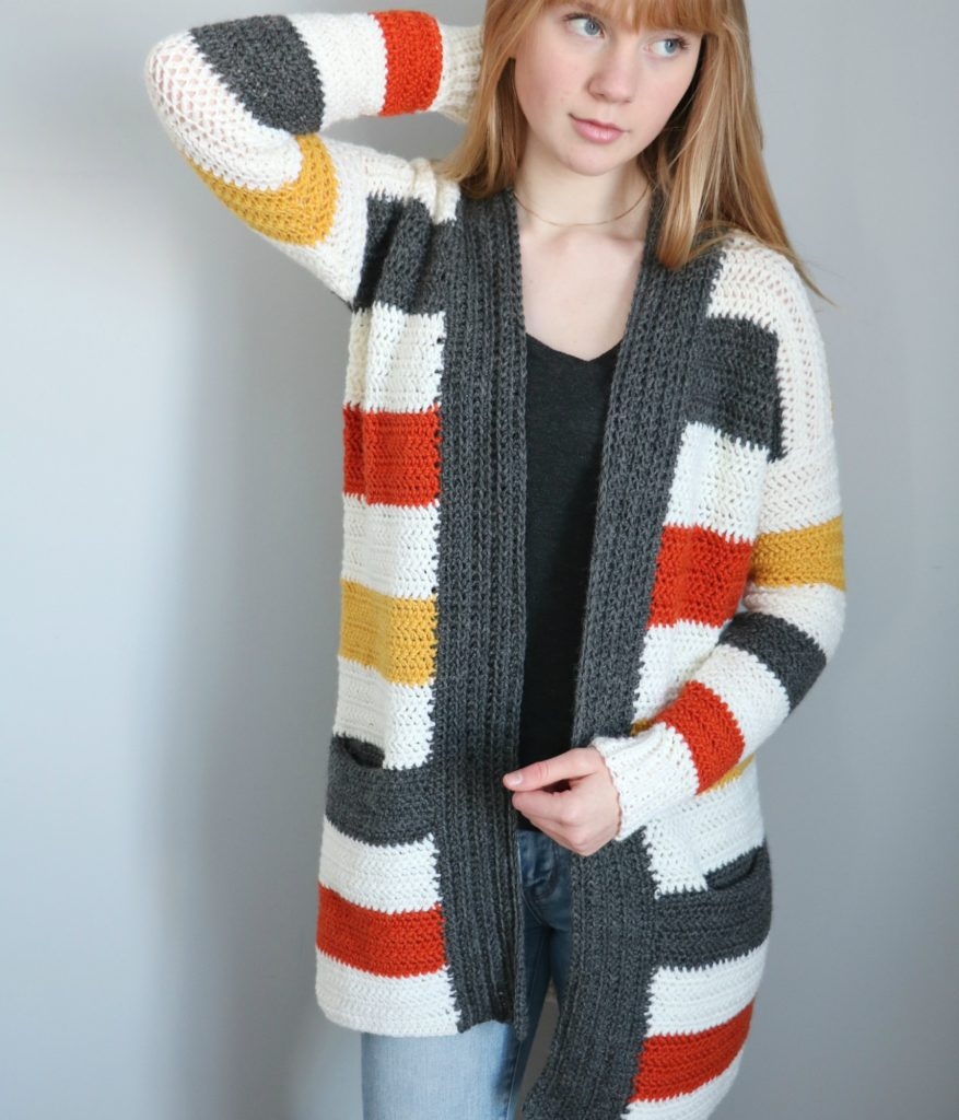 everyday striped cardigan