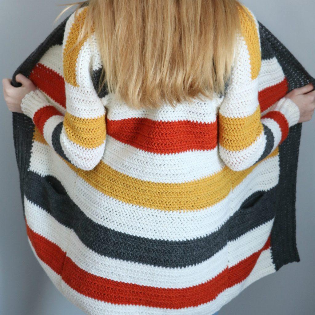 everyday striped cardigan
