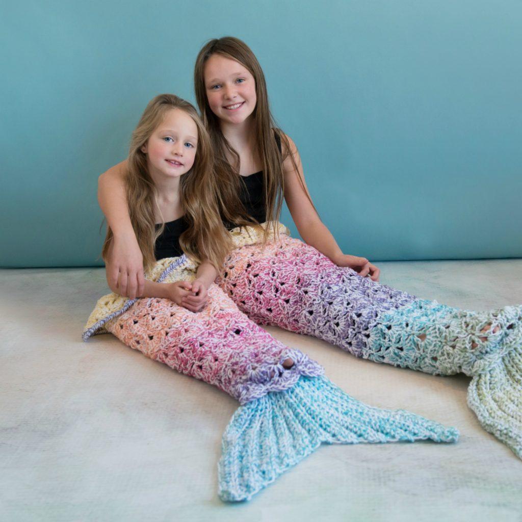 Rainbow Sparkle Mermaid Blanket Mj S Off The Hook Designs
