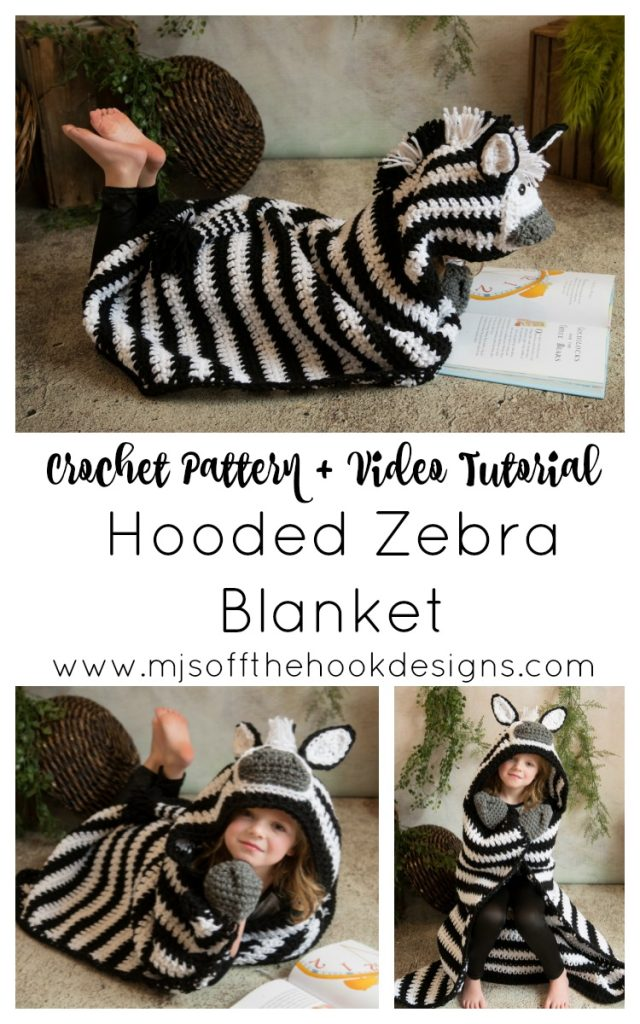 hooded zebra blanket