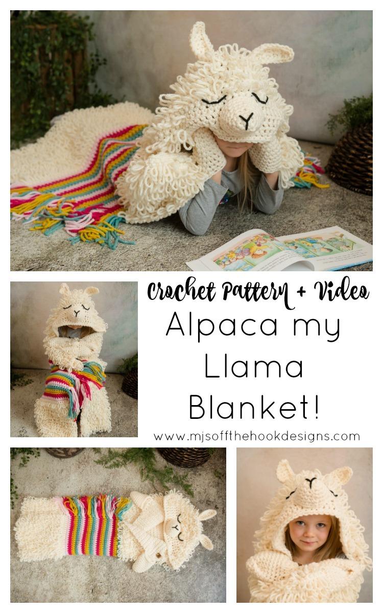 Alpaca my Llama Blanket Crochet Pattern! MJ's off the Hook