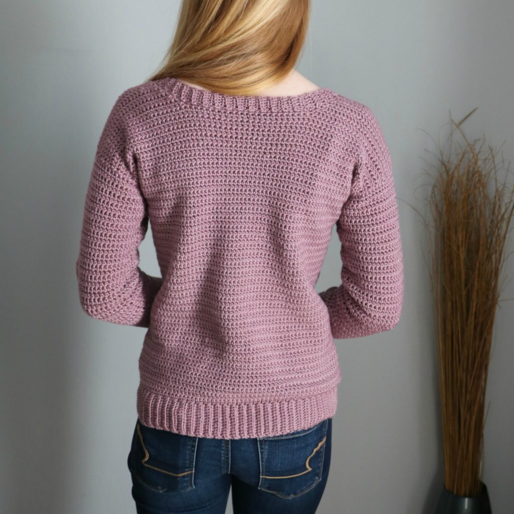 cabled heart pullover