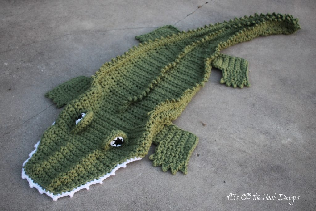 Alligator and Dinosaur Crochet Blankets