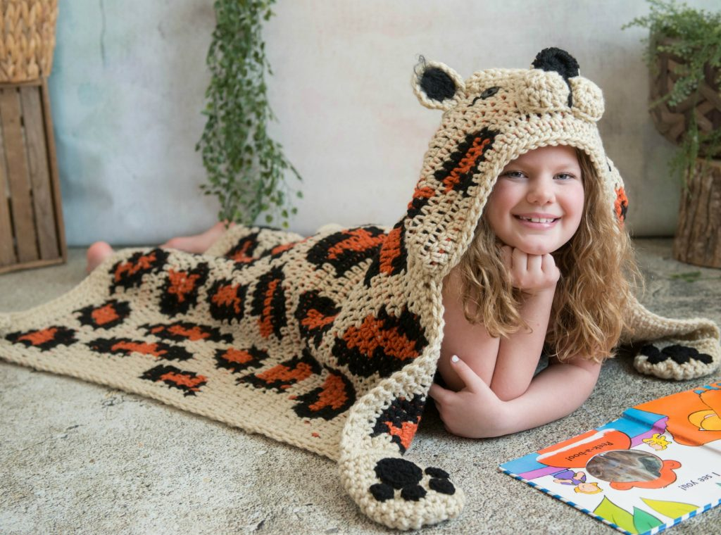 hooded Leopard Blanket
